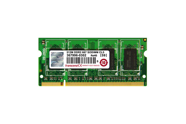 Transcend DDR-II SODIMM 2*256Mb <PC-5300> 1.8v 200-pin (for NoteBook)