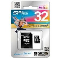 Флеш карта microSDHC 32Gb Silicon Power with SD adapter
