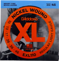 Струны для электрогитары D'Addario EXL110 XL NICKEL WOUND (10-46)
