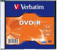 Диск DVD-R VERBATIM 4.7Гб 16x, 1шт., jewel case